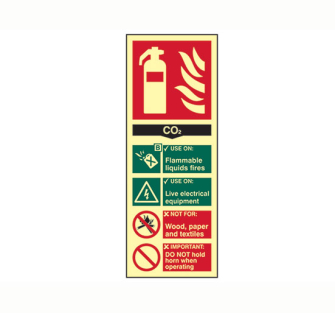 Scan Fire Extinguisher Composite - CO2 - Photoluminescent 75 x 20