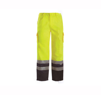 Scan Hi-Vis Motorway Trousers Yellow Black