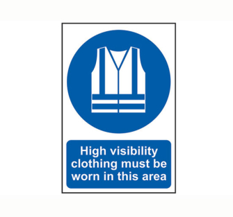 Scan High Visibility Jackets Must Be Worn in This Area - PVC 200