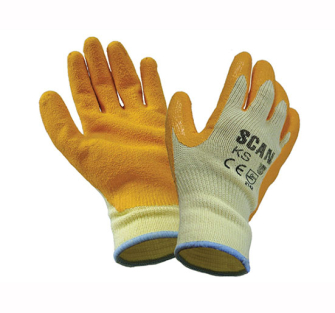 Scan Knit Shell Latex Palm Gloves - One Size