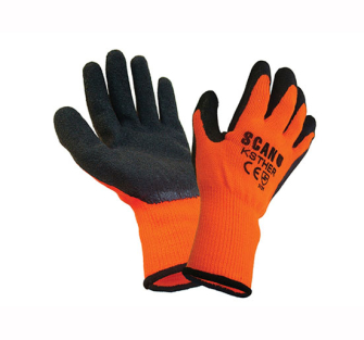 Scan Knitshell Thermal Gloves Orange/Black - Pair of Gloves