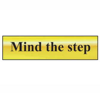 Scan Mind The Step - Polished Brass Effect 200 x 50mm - Single Un