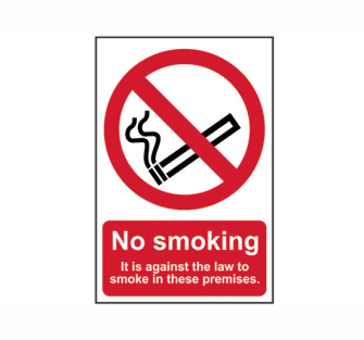 Scan No Smoking It Is Against The Law To Smoke On These Premises