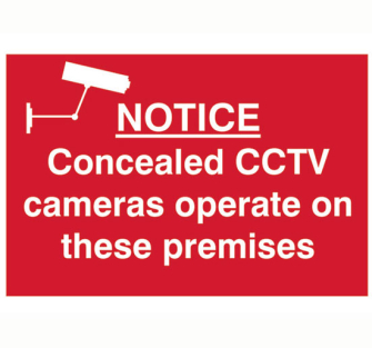 Scan Notice Concealed CCTV Cameras Operate On These Premises - PV