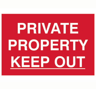 Scan Private Property Keep Out - PVC 300 x 200mm - Single Unit