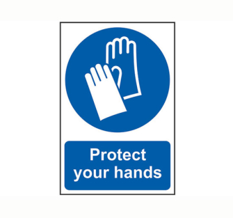 Scan Protect Your Hands - PVC 200 x 300mm - Single Unit