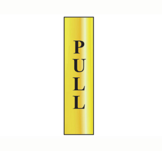 Scan Pull vertical - Polished Brass Effect 200 x 50mm - Single Un