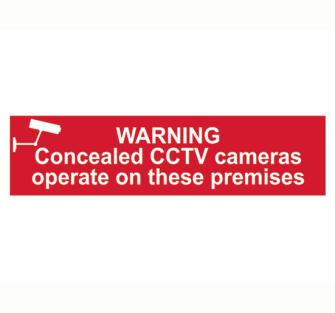 Scan Warning Concealed CCTV Cameras Operate On These Premises - P