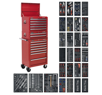 Sealey SPTCOMBO1 Tool Chest Combination 14 Drawer with Ball Beari