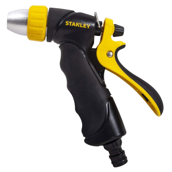 STANLEY Accuscape ProSeries 3 Way Heavy Duty Nozzle Hose, Black/Yellow