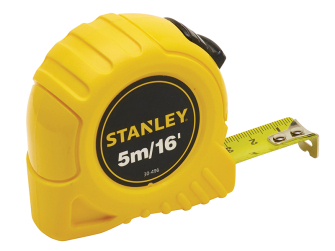 Stanley Pocket Tape 5m/16ft (Width 19mm)