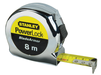 Stanley PowerLock BladeArmor Pocket Tape 8m (Width 25mm) (Metric only)