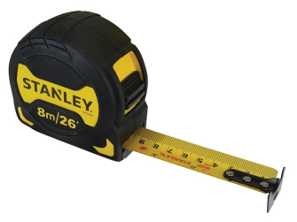 Stanley Grip Pocket Tape 8m/26ft (Width 28mm)