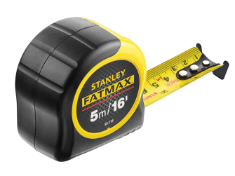 Stanley FatMax Tape measure 5m/16ft STA033719 - 5m Tape