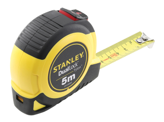 Stanley DualLock Tylon Pocket Tape 5m (Width 19mm) (Metric only)