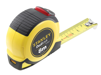 Stanley DualLock Tylon Pocket Tape 8m (Width 25mm) (Metric only)