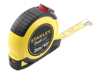 Stanley DualLock Tylon Pocket Tape 3m/10ft (Width 12mm)
