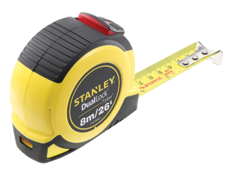 Stanley DualLock Tylon Pocket Tape 8m/26ft (Width 25mm)