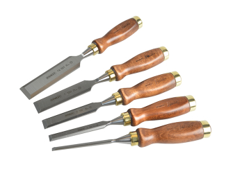 Stanley Bailey Chisel 5 Piece Set in Leather Pouch - 5 Piece Set