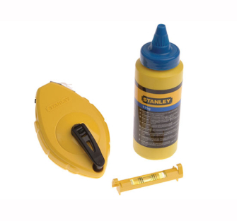 Stanley Chalk Line 30 Metre Blue Chalk & Level - 30 Metre