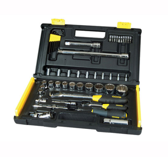 Stanley Microtough Socket Set 50 Piece 1/4 & 1/2 in Drive - 50 Pi