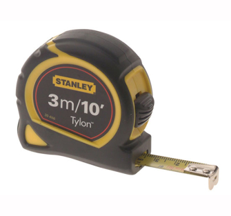 Stanley Pocket Tape 3m/10ft - 3m Retail Carded