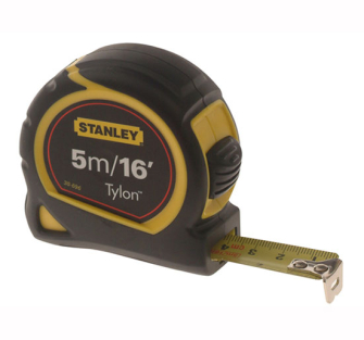 Stanley Pocket Tape 5m/16ft Blade Width 19mm - 5m Retail Carded