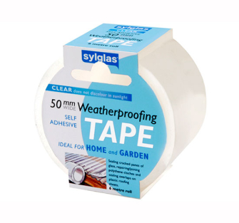 Sylglas Clear Waterproofing Tape 50mm x 6m - 50mm x 6m