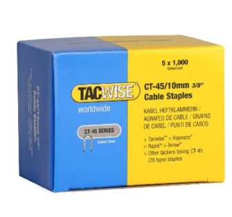 Tacwise CT45 10mm White Cable Tacker Staples Pack of 5000