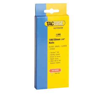 Tacwise 180 Series 18 Gauge Nails - 25mm 1000 Pack