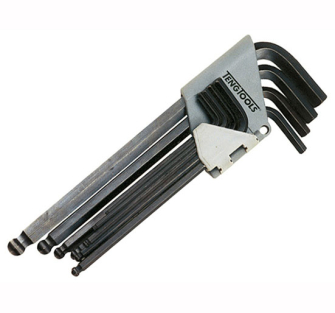 Teng Ball Point Hex Key Set 9 Imperial (5/64-3/8in) - 9 Piece Set