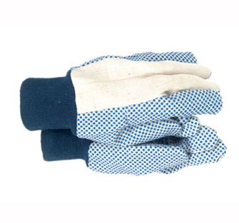 Town and Country TGL404 Mens Dotted Canvas Gloves - One Size
