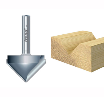 Trend 10/11 Chamfer V Groove Cutters - 19.0 x 38mm