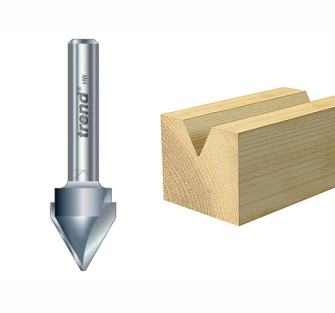Trend 11/5 x 1/4 TCT V Groove Cutter 60 degree 10.3 x 12.7mm - 10