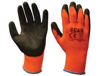 Scan Latex Coated Thermal Gloves - Size 9 (5 Pairs)