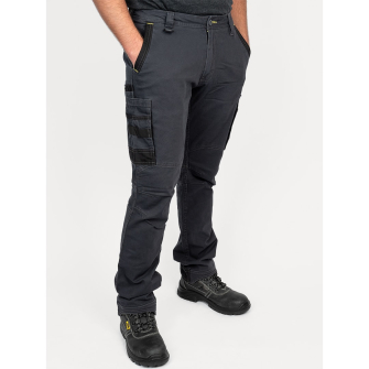 Bisley Workwear Flex & Move Stretch Utility Cargo Trousers - Charcoal