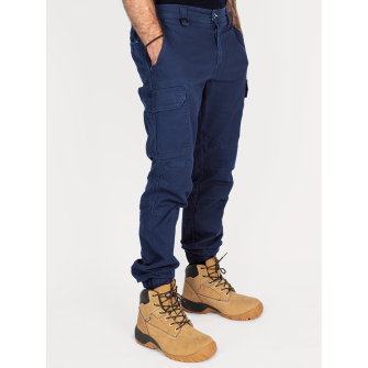 Bisley Workwear Flex & move Stretch Canvas Stove Pipe Trouser - Navy