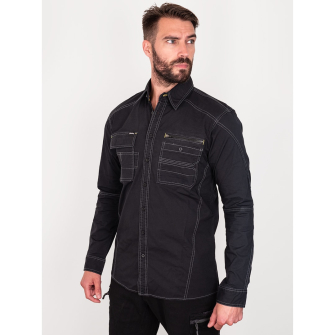 Bisley Workwear Flex & Move Utility Shirt Long Sleeve - Black