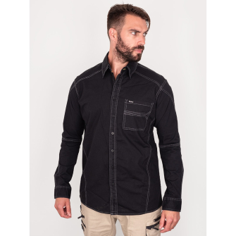 Bisley Workwear Flex & Move Stretch Shirt - Black