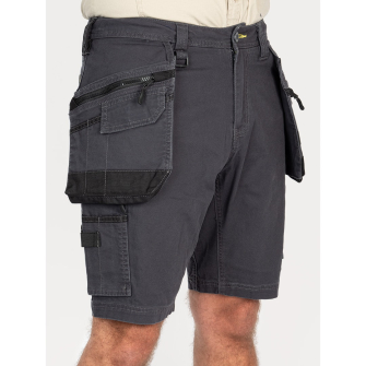 Bisley Workwear Flex & Move Stretch Utility Cargo Short With Holster Tool Pockets - Charcoal