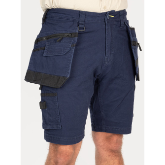 Bisley Workwear Flex & Move Stretch Utility Cargo Short With Holster Tool Pockets - Navy