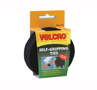 Velcro Self Gripping Ties 30mm x 5m Black - 30mm x 5m Black