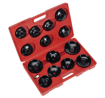 Sealey VS7003 Oil Filter Cap Wrench Set 15pc - Oil Filter Removal