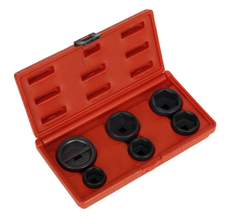 Sealey VS7103 Oil Filter Cap Wrench Set 6pc - Oil Filter Removal