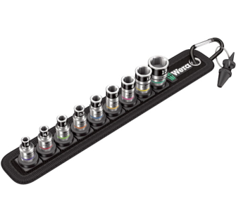 "Wera 003880 Zyklop 1/4"" Drive Socket Set With Holding Functi"