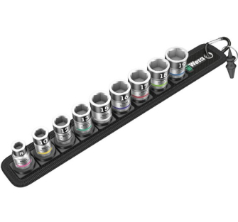 """Wera 003970 Zyklop 3/8"""" Drive Socket Set With Holding Functi"""