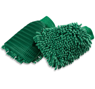 Turtle Wax X163TD Microfibre Chenille Mitt with Bug Mesh