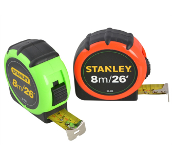 Stanley 8m/26ft Tape Measure - XMS14TAPE8 - STHT0-74137