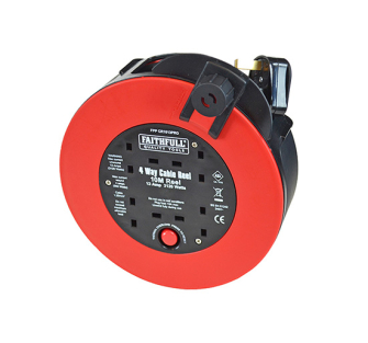Faithfull 10 Metre Fast Rewind Cable Reel 13 Amp