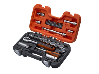 Bahco S330 3/8in Socket Set with 1/4in Bits 34 Piece - XMS1938SS